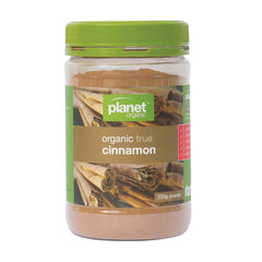 Planet Organic Organic Ground Cinnamon Jar 250g - The Vegan Town