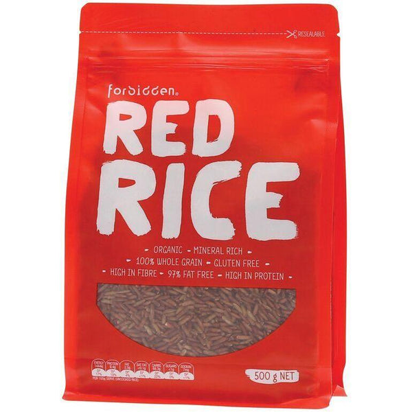 Forbidden Red Rice 97% Fat Free - High Protein 500g - The Vegan Town