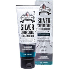 My Magic Mud Silver Charcoal Toothpaste With Coconut Oil - Spearmint 113g - The Vegan Town