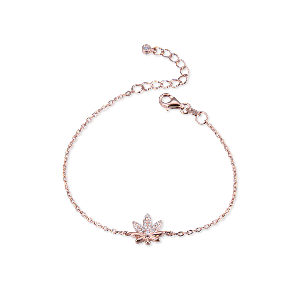KITTY - Bracelet feuille rosé - N&L jewels