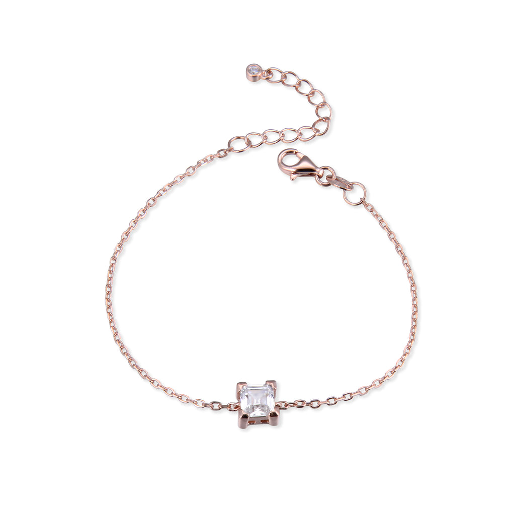 SHARONE - Bracelet carré rosé - N&L jewels