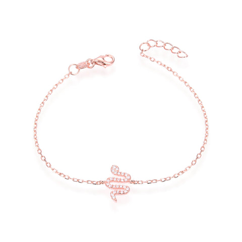 ANAIS - Bracelet serpent rosé - N&L jewels