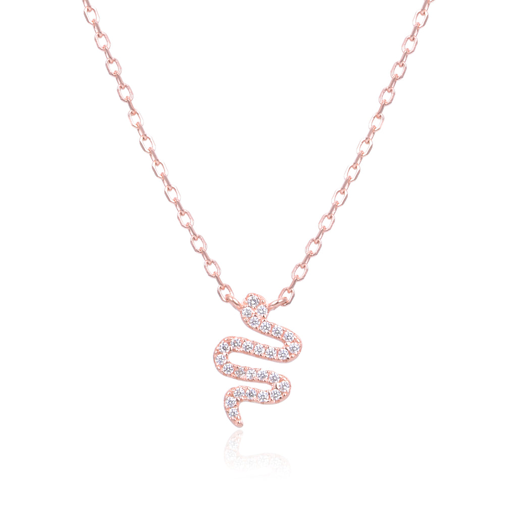 LENNIE - Collier serpent rosé - N&L jewels