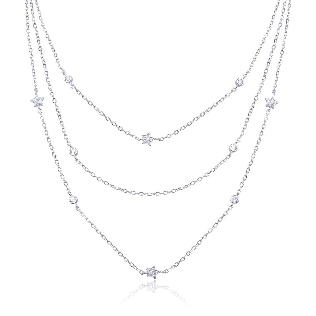 RUBY - Collier triple étoile argent - N&L jewels
