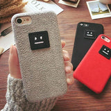 iPhone Case Acne Style Quality Soft Silicone TPU 3D Embroidery Emoji iPhone Case