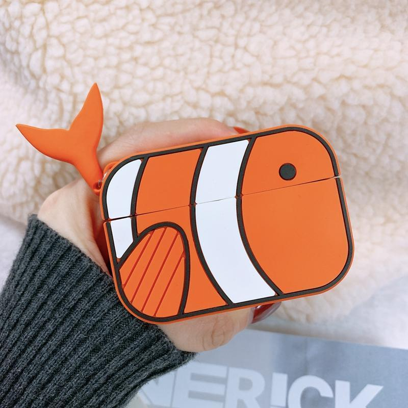 AirPods Pro Case Best Luxury Style Cartoon Dolly Fish Silicone Case For Apple Airpods Pro