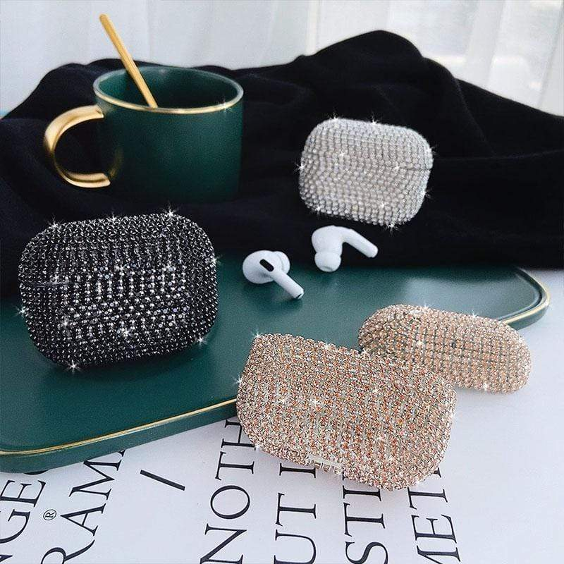 AirPods Pro Case Bling diamonds hard Shell for Apple Airpods pro case protective cover Wireless Bluetooth Earphone Case Charging box bags