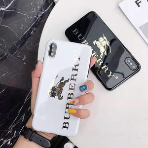 iPhone Case Burberry Style Electroplating Glossy TPU Silicone Designer iPhone Case