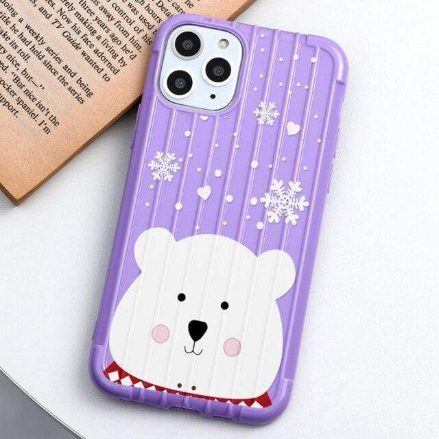 Cartoon Merry Christmas Candy Color Soft TPU Phone Cases For iPhone X XS 11 Pro Max XR 6 6S 7 8 Plus Case Trunk Style Back Cover
