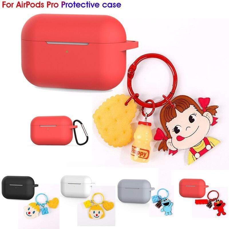 AirPods Pro Case Case For AirPods Pro Case luxury with cartoon Keychain silicon Protection Cover Bluetooth Earphone Case For Air Pods 3 2019 NEW