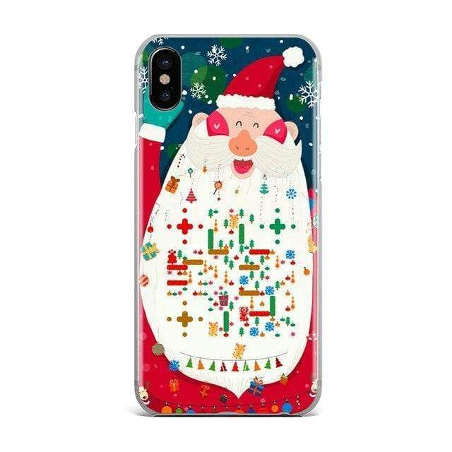 Iphone 11 Christmas New Year elk lovers snowman Cute Gift phone Case For iPhone 11 pro max 4S 5S 6s 7 8 plus X XR XS MAX TPU Silicone case