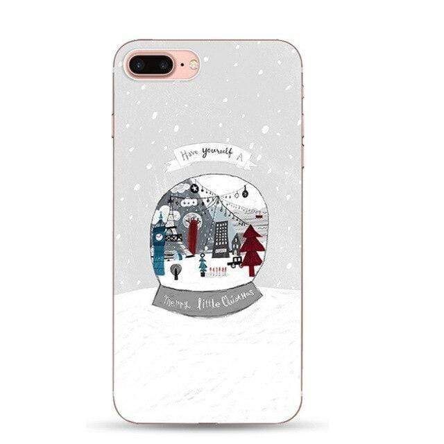 Iphone 11 Christmas Phone Case For iPhone 11 Pro XS MAX XR X 8 7 6 6S Plus Cartoon Santa Claus Deer Elk Pattern Soft TPU Cover Coque Capa