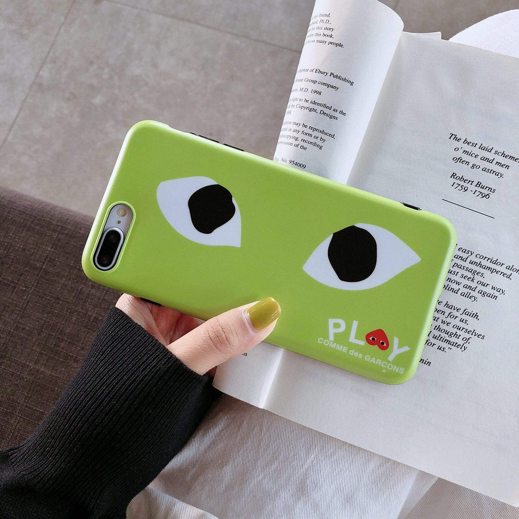 iPhone Case Comme Des Garcons CDG Play Style Matte Silicone Designer iPhone Case For iPhone X XS XS Max XR 7 8 Plus