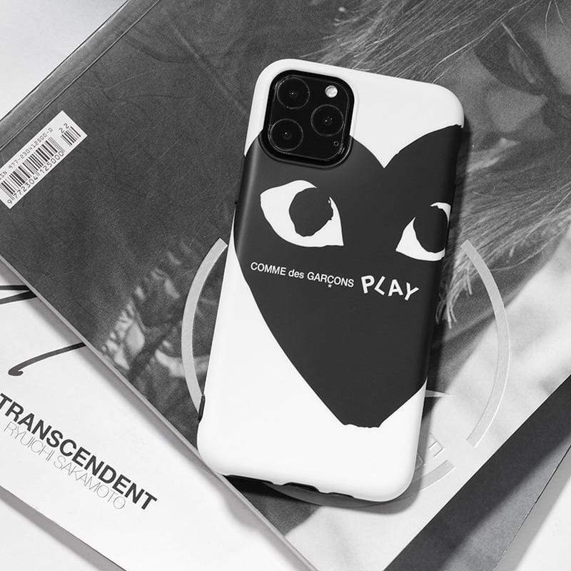 iPhone 11 Comme Des Garcons PLAY Style Silicone Shockproof Protective Designer iPhone Case For iPhone 11 Pro Max X XS Max XR 7 8 Plus
