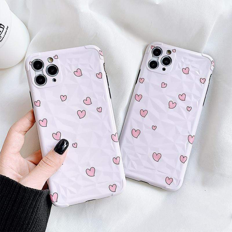 iPhone 11 Cute Heart Silicone Shockproof Protective Designer iPhone Case For iPhone 11 Pro Max X XS Max XR 7 8 Plus