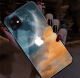 iPhone 11 Dawn Sunset Luminating Light Tempered Glass Designer iPhone Case For iPhone 11 Pro Max X XS XS Max XR 7 8 Plus