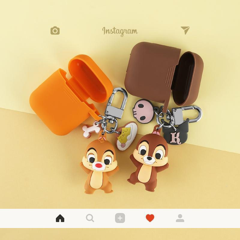 AirPods Case Disney Style Chip n Dale Silicone Protective AirPods 1 & 2 Case