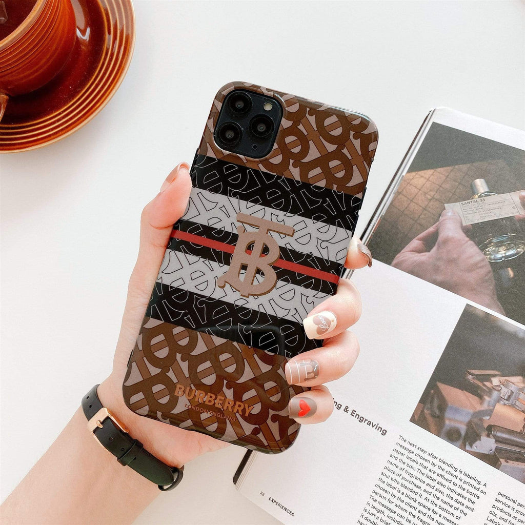 Iphone 11 Fashion Burberry Style Letter Soft Glue Designer iPhone Case For Iphone 11 Pro Max X XS XS MAX XR 7 8 Plus