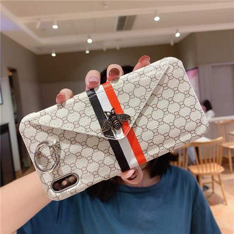 Iphone 11 Fashion Gucci Style Bee Card Package Designer iPhone Case For Iphone 11 Pro Max X XS XS MAX XR 7 8 Plus