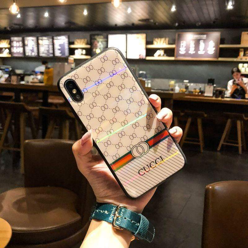 Iphone 11 Fashion Gucci Style Tempered Glass Designer iPhone Case For Iphone 11 Pro Max X XS XS MAX XR 7 8 Plus