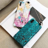 iPhone Case Fashion Mermaid Colorful Glossy Bumper Designer iPhone Case With Hand