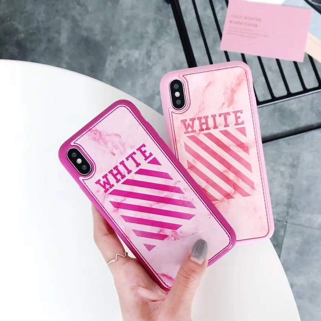 iPhone Case Fashion Off White OW Marble Stripe Soft Silicone iPhone Case