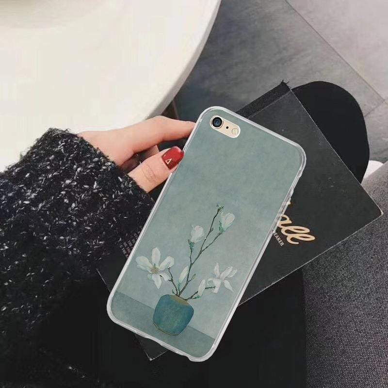 iPhone 11 Floral Soft Silicone Shockproof Protective Designer iPhone Case For iPhone 11 Pro Max X XS Max XR 7 8 Plus