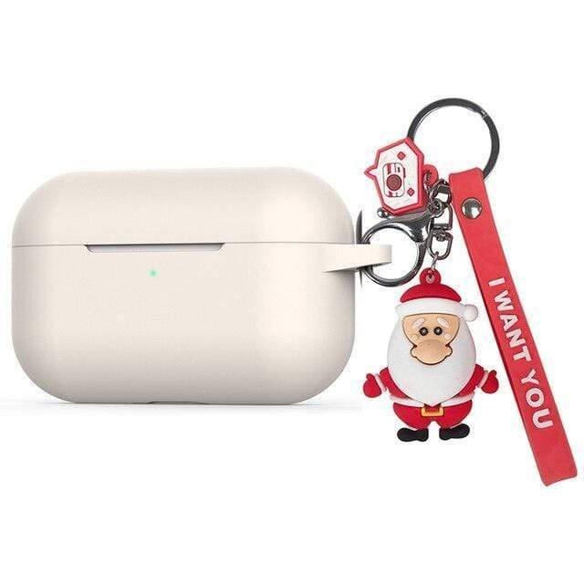 AirPods Pro Case For AirPods Pro Case luxury with cartoon Christmas Keychain silicon Protection Cover For AirPods 3 Case Bluetooth Earphone Case