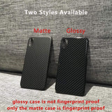 iPhone Case For iPhone XS Max Luxury Slim Real Carbon Fibers Armor Protection Phon