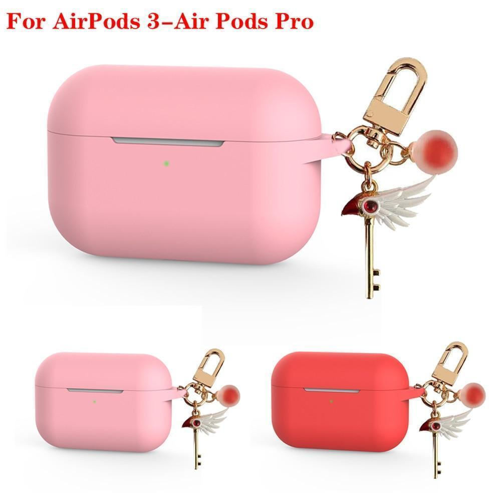 AirPods Pro Case funda For AirPods Pro For AirPods Pro 3 luxury keychain cartoon Accessories case For чехол airpods pro Bluetooth Earphone Cover