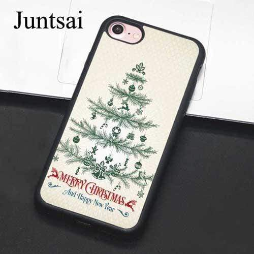 Juntsai Elegant Christmas Greetings Phone Case For iphone 11 Pro MAX XR XS MAX X 6 6S 7 8 Plus 5 5S Cover Coque