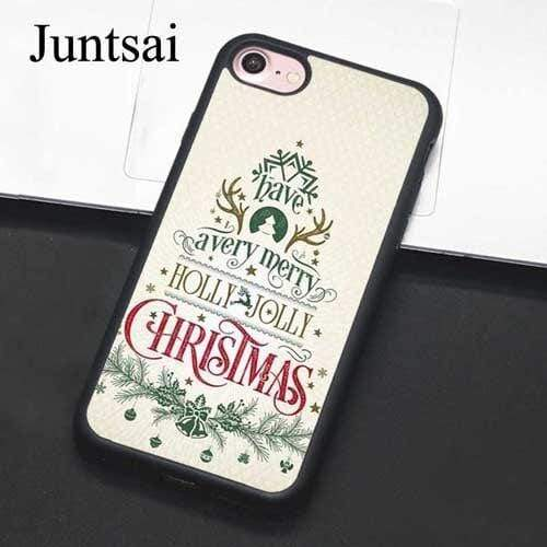 Iphone 11 Juntsai Elegant Christmas Greetings Phone Case For iphone 11 Pro MAX XR XS MAX X 6 6S 7 8 Plus 5 5S Cover Coque