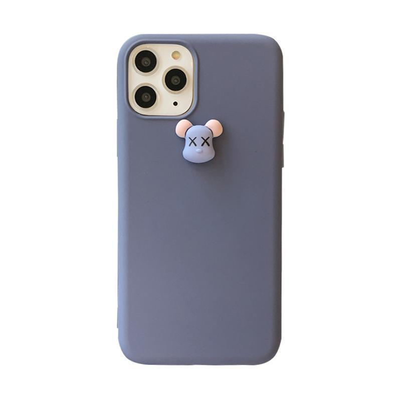 iPhone 11 KAWS Style 3D Toy Silicone Shockproof Protective Designer iPhone Case For iPhone 11 Pro Max X XS Max XR 7 8 Plus