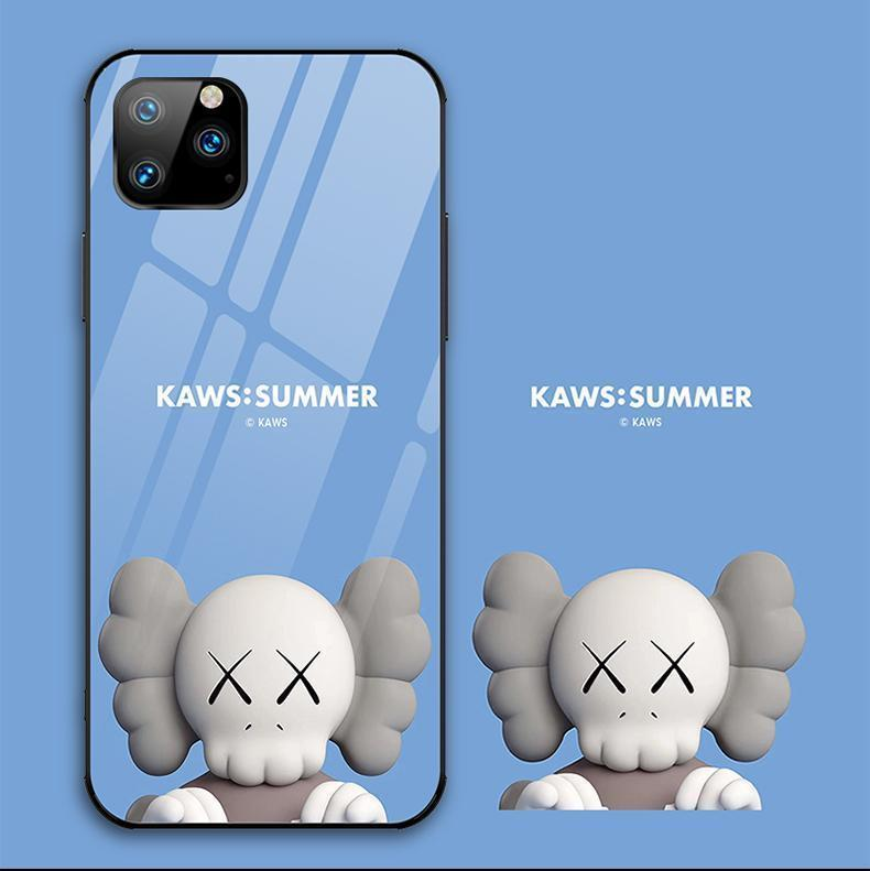 iPhone 11 KAWS Style Tempered Glass BFF Designer iPhone Case For iPhone 11 Pro Max X XS XS Max XR 7 8 Plus