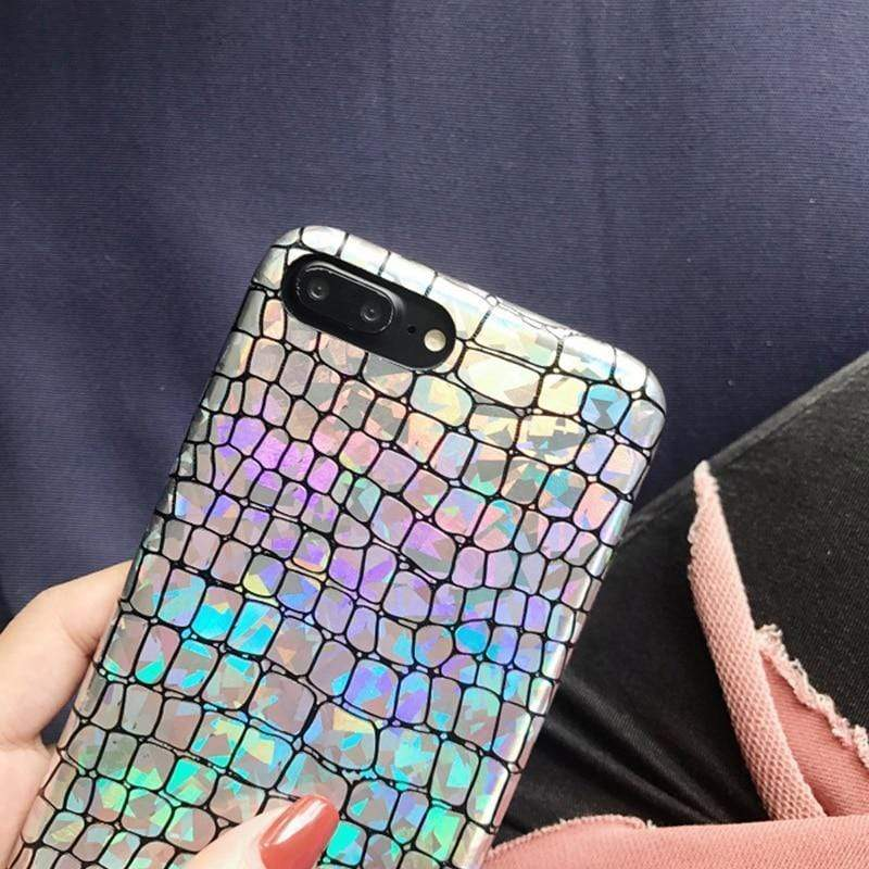 iPhone Case Laser Shinning Leather Shockproof Luxury Bumper Designer iPhone Case