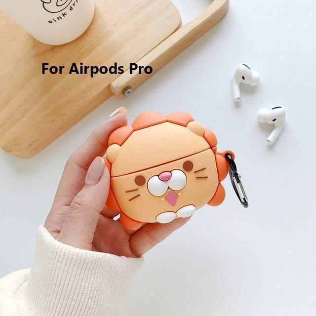 AirPods Pro Case LinXiang 3D Cartoon Lovely Little Lion Sunshine Lionet Bluetooth Earphone Silicone Protective Case Cover For Apple Airpods Pro