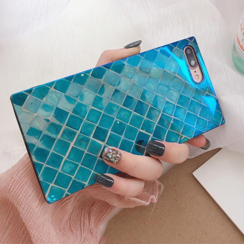 iPhone Case Luxury Blue Mermaid Blue Ray Tempered Glass Designer iPhone Case