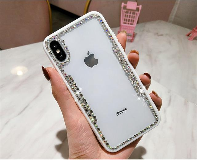 iPhone Case Luxury Diamond Bling Transparent Ultra Slim Clear Silicone iPhone Case