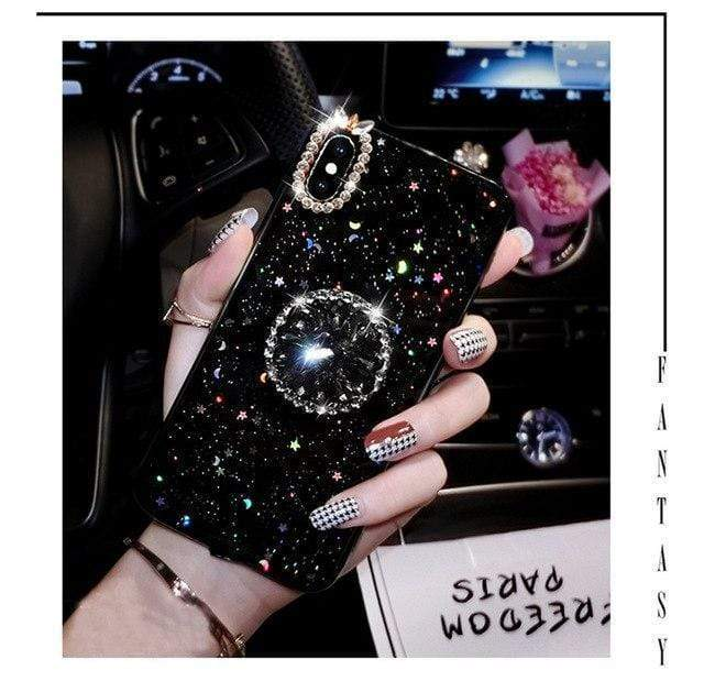 iPhone Case Luxury Diamond Pop Socket Pearl Silicone Designer iPhone Case