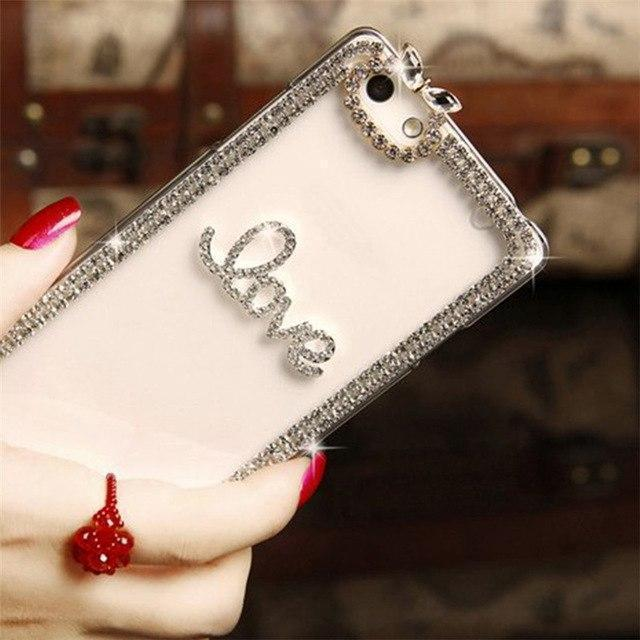 iPhone Case Luxury Diamond Rhinestone Guitar Silicone TPU Clear iPhone Case
