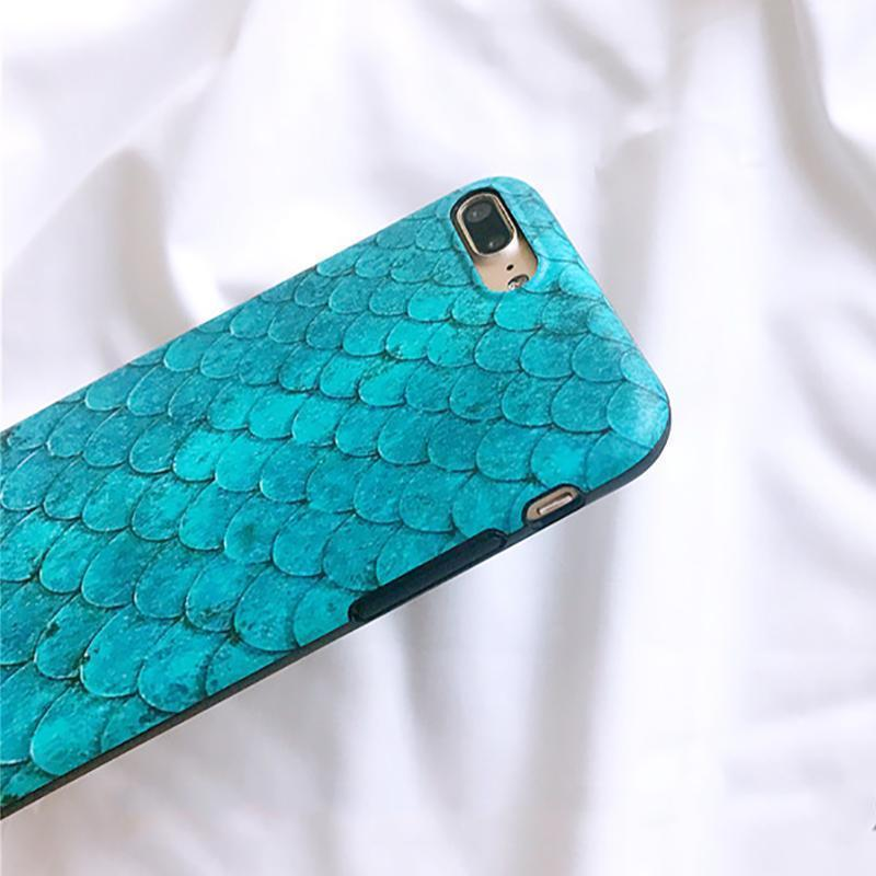iPhone Case Luxury Fashion Blue Mermaid Soft Silicone Vintage Designer iPhone Case
