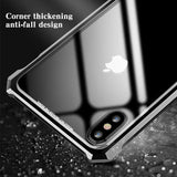Luxury Metal Bumper Tempered Glass Ultra Slim Protective iPhone Case - Mixi Iphone Case