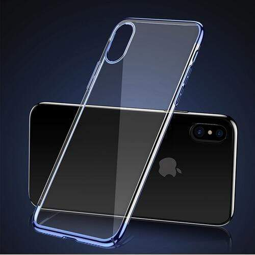 Luxury Plating Mirror Ultra Thin Hard Silicone Transparent iPhone Case - Mixi Iphone Case