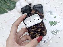 Luxury Style AirPods Classic Monogram Leather Protective Shockproof Case For Apple Airpods 1 & 2 - Mixi Iphone Case