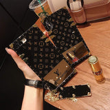 LV iPhone case Black 11 Pro Xs Max Xr 8 Plus Luxury Shining - Mixi Iphone Case