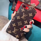 LV iPhone case Brown 11 Pro Xs Max Xr 8 Plus Luxury Back Slim - Mixi Iphone Case