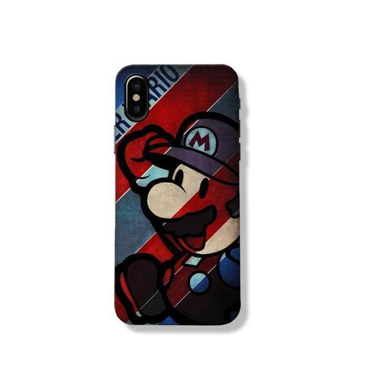 Mario Style Matte Silicone Shockproof Protective Designer iPhone Case For iPhone 11 Pro Max X XS Max XR 7 8 Plus - Mixi Iphone Case