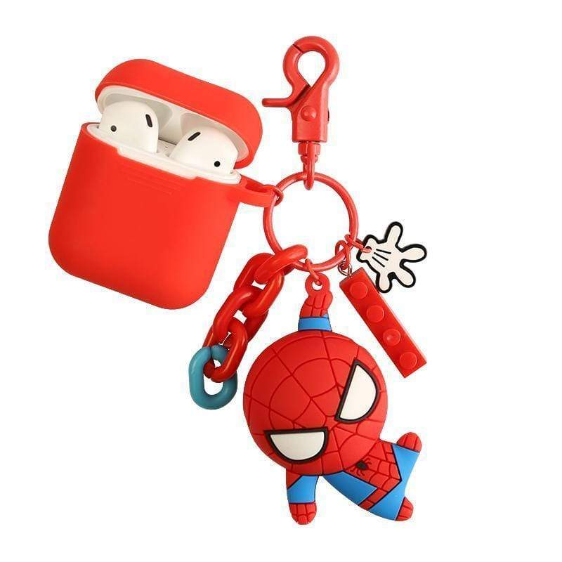 Marvel Captain America Spiderman Ironman Silicone AirPods 1 2 - Mixi Iphone Case