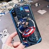 Marvel Style Embossed Shield Captain America Iron Man iPhone Case - Mixi Iphone Case
