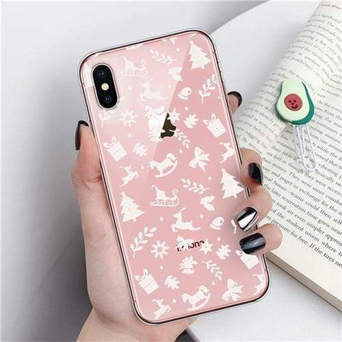 Iphone 11 Merry Christmas Phone Case For iPhone 11 X XR XS Max 8 7 6 6s Plus Cartoon Santa Claus elk Soft TPU Silicon Cover Couples Cases